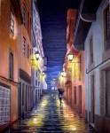 Obras de arte: Europa : España : Galicia_La_Coruña : Coruna : Lluvia en la noche