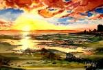 Obras de arte: America : Chile : Los_Lagos : puerto_montt : Atardecer en Pelluco