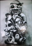 Obras de arte: America : Colombia : Huila : PITALIO_ : maternidad