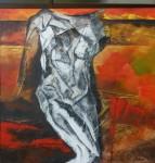 Obras de arte: America : Chile : Region_Metropolitana-Santiago : Santiago_de_Chile : Hombre abatido