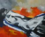 Obras de arte: America : Chile : Region_Metropolitana-Santiago : Santiago_de_Chile : Hombre acurrucado