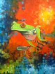 Obras de arte: America : Costa_Rica : San_Jose : Desamparados : ranita