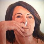 Obras de arte: Europa : España : Catalunya_Barcelona : Barcelona : Un cigarrillo