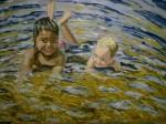 Obras de arte: Europa : España : Andalucía_Sevilla : Espartinas : Niños Mª.Paz en el baño
