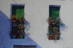 Obras de arte: Europa : España : Euskadi_Bizkaia : Bilbao : Geranios en la plaza