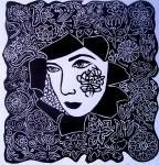 Obras de arte: America : Cuba : Ciudad_de_La_Habana : Habana_del_Este : Mujer, Flor.