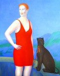 Obras de arte:  : Alemania : Mecklenburg-Vorpommern :  : Mujer con pantera