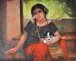 Obras de arte: America : Panamá : Veraguas : Santiago_de_Veraguas : Miradas de ternura
