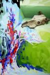 Obras de arte: Europa : España : Islas_Baleares : Ibiza : HE PINTADO UN PAISAJE PARA MI VACA
