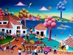 Obras de arte:  : Colombia : Cundinamarca : BOGOTA_D-C- : Paseo por Guatavita (Colombia)