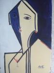 Obras de arte: Europa : España : Castilla_y_León_León : LEON-CIUDAD : dama con copa de vino
