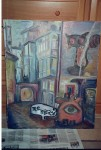 Obras de arte:  : España : Galicia_La_Coruña : Santiago_de_Compostela : ciudad 4