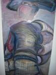 Obras de arte:  : España : Galicia_La_Coruña : Santiago_de_Compostela : Cara adiante (mulller con paraugas)