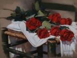 Obras de arte: Europa : España : Valencia : Alicante : Flores sobre silla