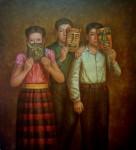Obras de arte: America : México : Mexico_Distrito-Federal : iztapalapa : Niños con máscaras