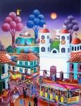 Obras de arte:  : Colombia : Cundinamarca : BOGOTA_D-C- : Plaza de Bolivar años 40 Bogota Colombia