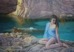 Obras de arte: Europa : España : Catalunya_Barcelona : Sabadell : Sobre la roca como una sirena