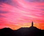 Obras de arte: Europa : España : Galicia_La_Coruña : Coruna : Atardecer en la Torre