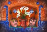 Obras de arte: America : México : Tlaxcala : Tlax : Nicho con mascaras