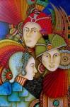 Obras de arte: America : Colombia : Distrito_Capital_de-Bogota : Bogota_ciudad : MEZTLI, XIPE  TOTEC Y XITLALI