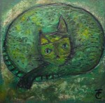 Obras de arte:  : México : Mexico_Distrito-Federal : Cuauhtemoc : Gato Verde