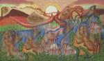 Obras de arte:  : Nicaragua : Managua : Managua_ciudad : UN ATARDECER EN POCHOMIL ANTES DEL TIEMPO