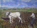 Obras de arte:  : España : Extremadura_Badajoz : Merida_badajoz : PASANDO EL RODO