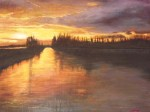 Obras de arte:  : España : Extremadura_Badajoz : Merida_badajoz : RIO CIGUELA TABLAS DE DAIMIEL