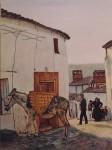 Obras de arte:  : España : Extremadura_Badajoz : Merida_badajoz : BURRA  CON  SERON