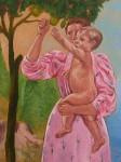 Obras de arte: America : Colombia : Santander_colombia : Bucaramanga : Alegorías - niño y madre