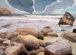 Obras de arte: America : Chile : Tarapaca : IQUIQUE : Esperando las olas