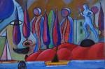Obras de arte: Europa : Portugal : Lisboa : cascais : Auto-retrato I