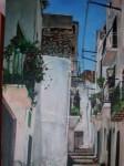 Obras de arte:  : España : Extremadura_Badajoz : Merida_badajoz : CALLEJON CON FLORES