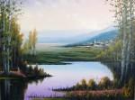 Obras de arte: Europa : Espa�a : Catalunya_Tarragona : Cambrils : Pueblecito en el lago