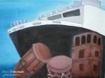Obras de arte:  : Panamá : Colon-Panama : Panamá_Ciudad : Barco y cultura