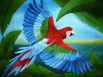Obras de arte:  : Panamá : Colon-Panama : Panamá_Ciudad : Guacamaya Sobre vuelo