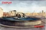 Obras de arte:  : España : Galicia_La_Coruña : coruña : Fuente de los surfistas.