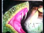 Obras de arte: America : México : Mexico_Distrito-Federal : Mexico_D_F : La serpiente y la luciernaga