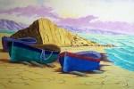 Obras de arte: Europa : España : Castilla_y_León_Burgos : burgos : Barcas en la playa