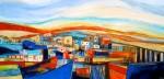 Obras de arte: America : Chile : Region_Metropolitana-Santiago : Santiago_de_Chile : Botes y casas