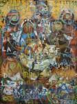 Obras de arte: America : México : Mexico_Distrito-Federal : Coyoacan : Nacimiento del Sol Sangre Escarlata y dos Estrellas