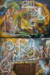 Obras de arte: America : México : Mexico_Distrito-Federal : Coyoacan : Vision del Niño Azul-Ojo Sagrado