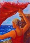 Obras de arte:  : España : Andalucía_Granada : Granada_ciudad : pañuelo al viento