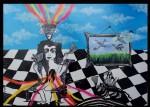Obras de arte: America : Cuba : La_Habana : Vedado : Juanita con sus abanicos