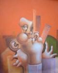 Obras de arte: Europa : España : Aragón_Zaragoza : zaragoza_ciudad : Hombre con fondo rojo