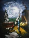 Obras de arte:  : Colombia : Distrito_Capital_de-Bogota : Bogota : QUIJOTE NOCTURNO