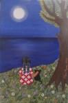 Obras de arte: Europa : España : Madrid : alcala_de_henares : La niña, el gato y la luna