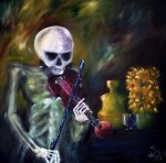 Obras de arte: America : Colombia : Distrito_Capital_de-Bogota : Bogota : La muerte tocando violin