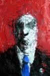 Obras de arte: America : México : Morelos : cuernavaca : hombre con fondo rojo