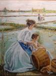 Obras de arte:  : España : Comunidad_Valenciana_Castellón : castellon_ciudad : en el arrozal